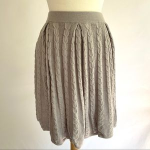 BCBGMaxAzria Savannah Cable Knit Skirt in Glacier